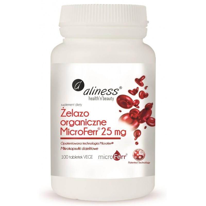 Żelazo organiczne MicroFerr® 25 mg Aliness