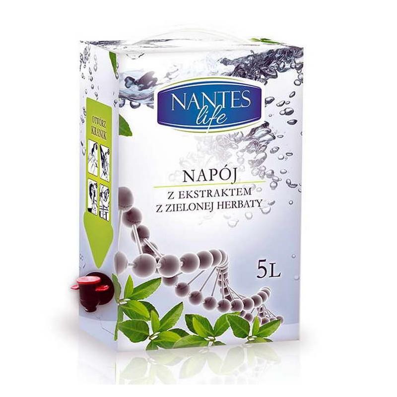 Nantes life Napój z ekstraktem zielonej herbaty na bazie wody plazmowanej