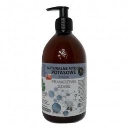 """copy of Naturalne mydło potasowe """"Prawdziwe Szare"""" ze srebrem monojonowym w płynie 500 ml"""